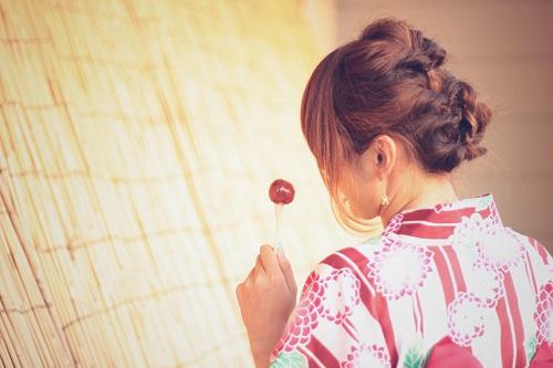 浴衣に合う髪型 ショート 編み込み