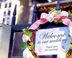 結婚式 受付 当日
