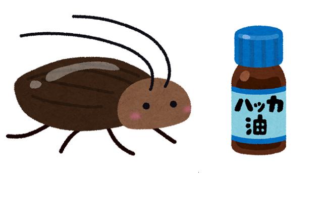 ハッカ油 ゴキブリ 慣れる